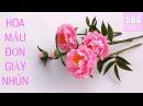 Hướng dẫn cách tự làm Hoa Mẫu Đơn bằng giấy nhún ❀ DiyBigBoom VN
