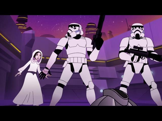 Звёздные Войны Силы Судьбы Forces of Destiny Эпизод 8 Неприятности с охотником за головами
