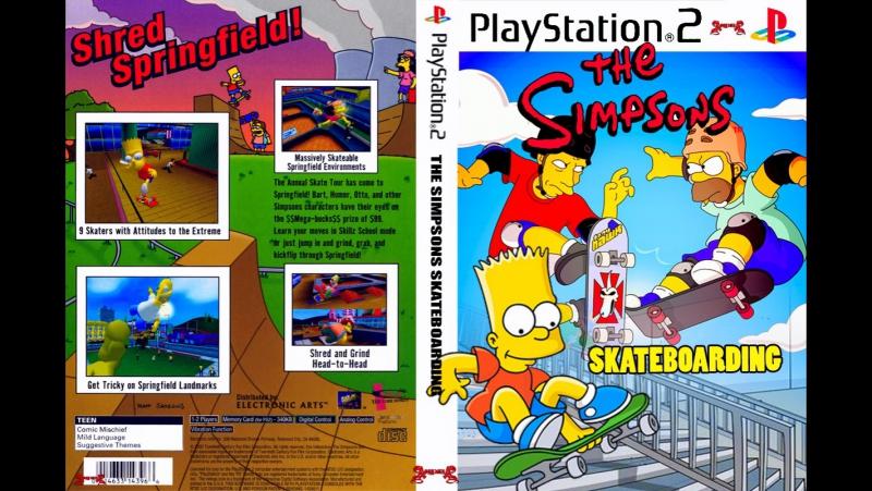 PS2 Exclusive Simpson Skateboard pcsx 2 1 5 0 DX 11 Fps 60 HD 720 p