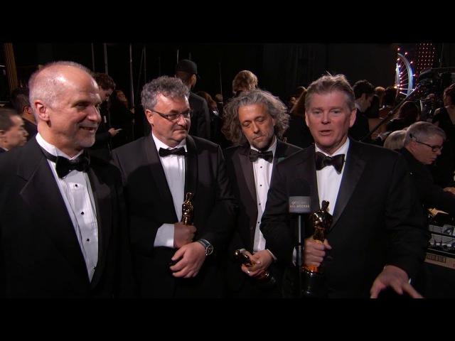 Оскар 2018: John Nelson, Gerd Nefzer, Paul Lambert and Richard R. Hoover's Oscars Acceptance Speech Thank You Ca