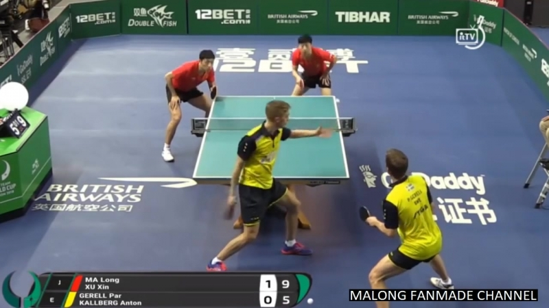 MA Long XU Xin CHN vs SWE KALLBERG Anton GERELL Par Highlights MT 2018