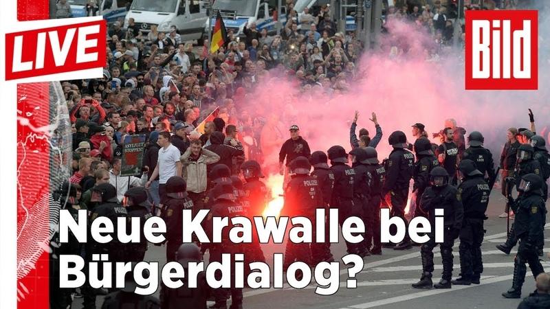 Krawalle befürchet: Sachsen-MP Kretschmer besucht Chemnitz