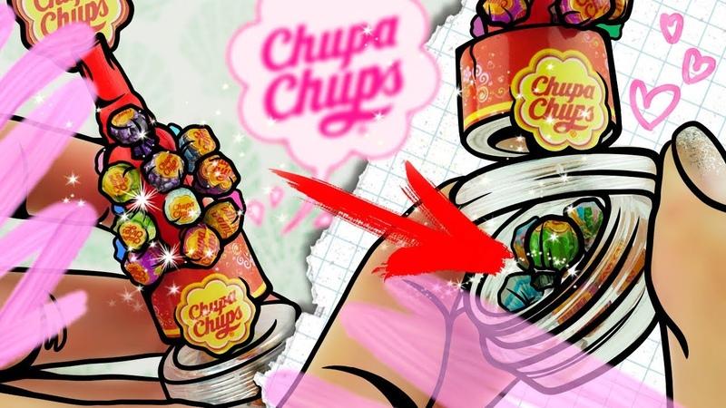 Miniature CHUPA CHUPS Candys For Dolls | DIY