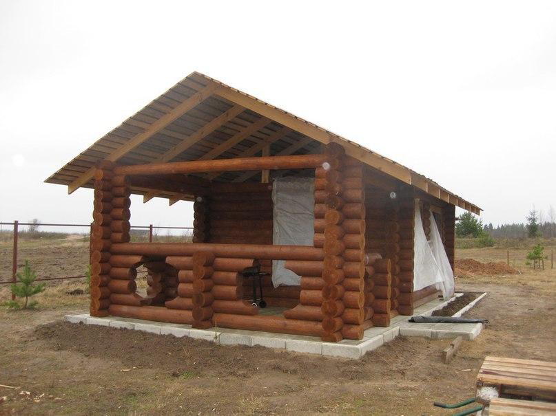 Летняя кухня из бревна для дачи: функциональное сооружение, изображение №8