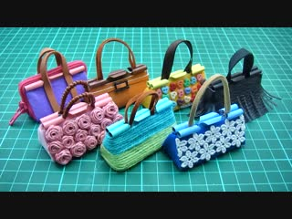 7 DIY Miniature Binder Clip Barbie Mini Bags - Easy