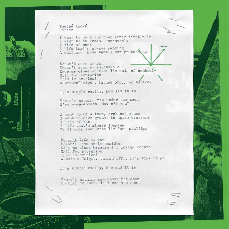 Touché Amoré - Green [single] (2018)