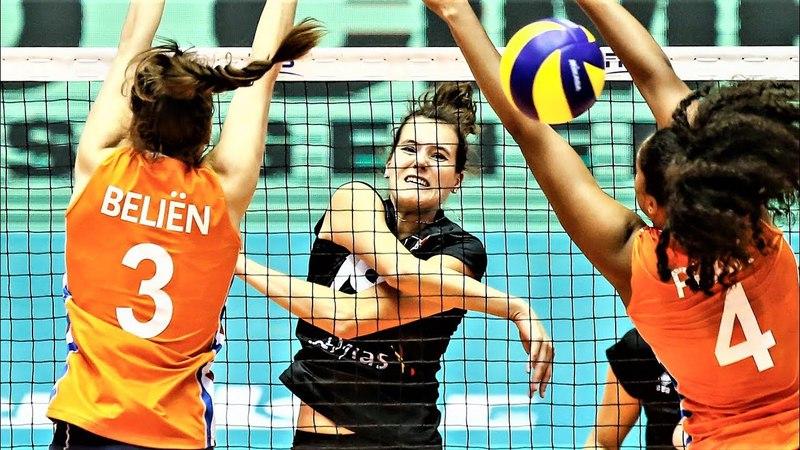 Лучшие моменты Nathalie Lemmens Бельгия Женский волейбол WGP 2017