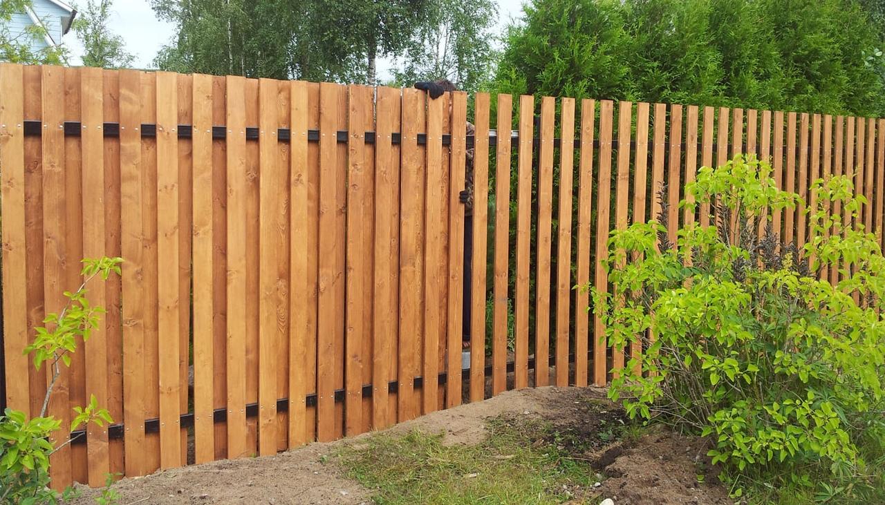 теплой забор из штакетника деревянного фото открытка