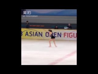 Hana yoshida sp __ asian open figure skating trophy 2018 __ 吉田陽菜