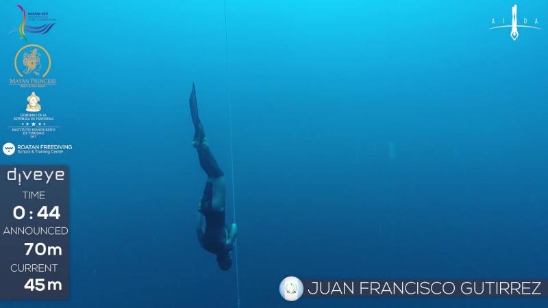 AIDA WCh Roatan 2017 Juan Francisco Gutierrez CWT NR