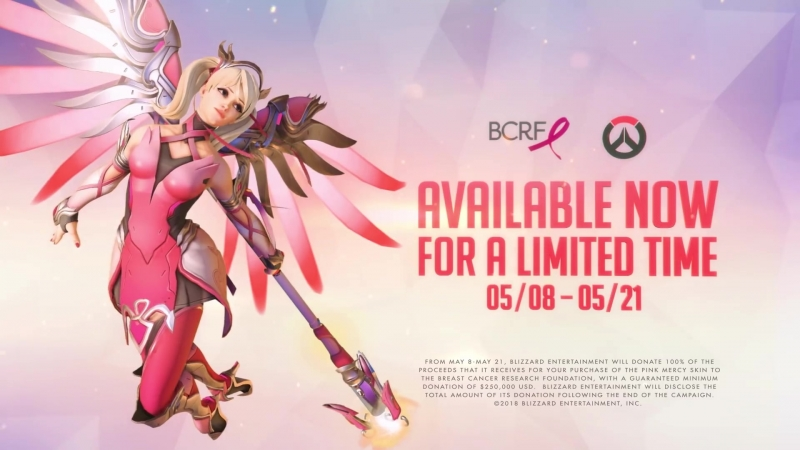 Overwatch Pink Mercy Support the BCRF ¦ PS4