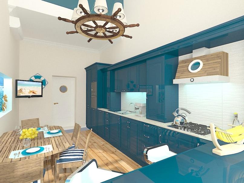 Дизайн интерьера в морском стиле, изображение №2