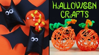 DIY Halloween Decorations | How to Make HALLOWEEN CRAFTS | Bat Poppers, Pumpkin Poms Poms and More