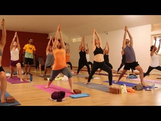 Vinyasa Yoga Traditional Class in Mysore India - One hour Full Class