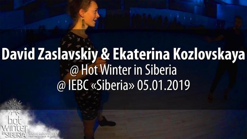 David Zaslavskiy Ekaterina Kozlovskaya @ Hot Winter in Siberia 05.01.2019