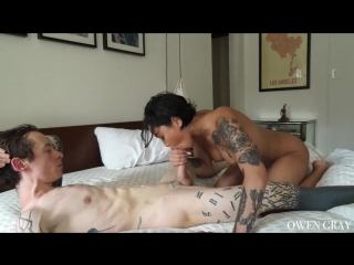Tattooed couple non stop orgasm sex vid honey gold and owen gray - beautiful babes