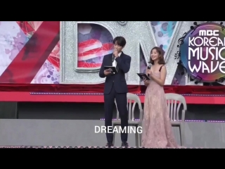 Главный мс минхо на mbc-tv dmc festival 2018 'mbc korean music wave'