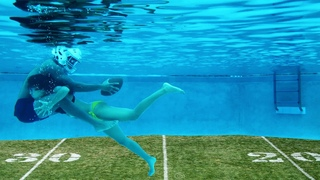 THE MOST FUN POOL GAME  TACKLE FOOTBALL UNDERWATER!!!