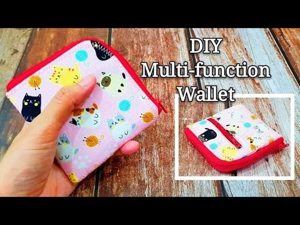 DIY fabric scraps idea ~Here's the way to use them up‖ Diy multi-function wallet~Easy sewing project