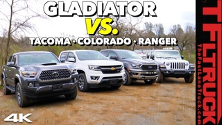 The 2020 Jeep Gladiator Takes on Tacoma, Ranger, & Colorado in This Epic First-Ever Truck Shoot Out!