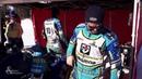 Mit Spikes und Schräglage Eisspeedway Fahrer Luca Bauer Schwaben Altbayern BR