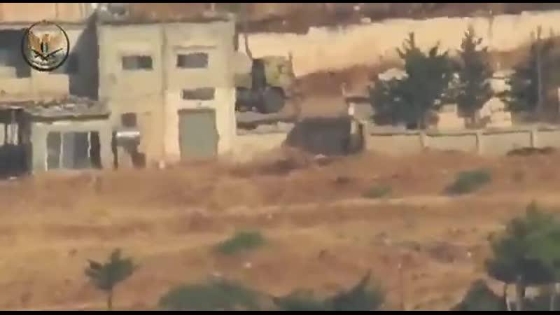 Сирія Хама Постріл з ПТРК по КамАЗу 4350 Пишуть там були з рф