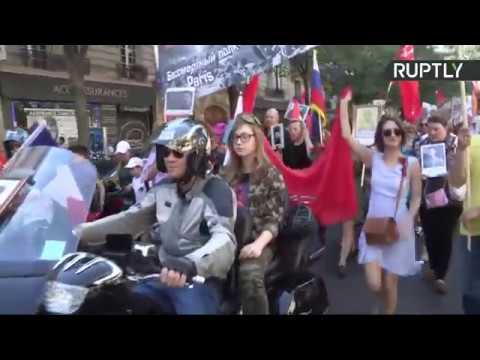 Marche du Régiment immortel à Paris