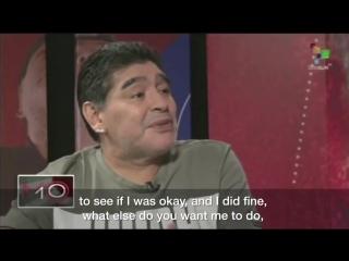 Марадона уверяет, что с ним все в порядке!
