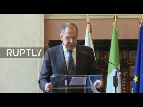 LIVE Lavrov meets Italian FM Milanesi in Rome joint press statements