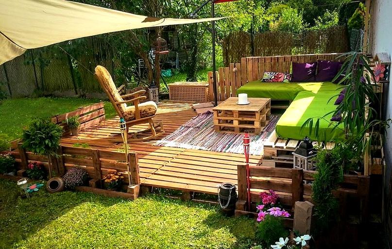 Интересные идеи для организации уютной зоны отдыха на Вашей даче, изображение №7