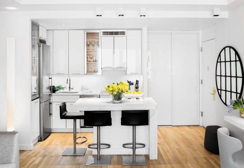 Черно-белая кухня – особенности контрастного дизайна., изображение №4