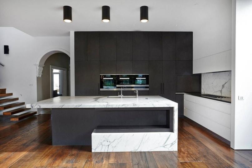 Черно-белая кухня – особенности контрастного дизайна., изображение №9