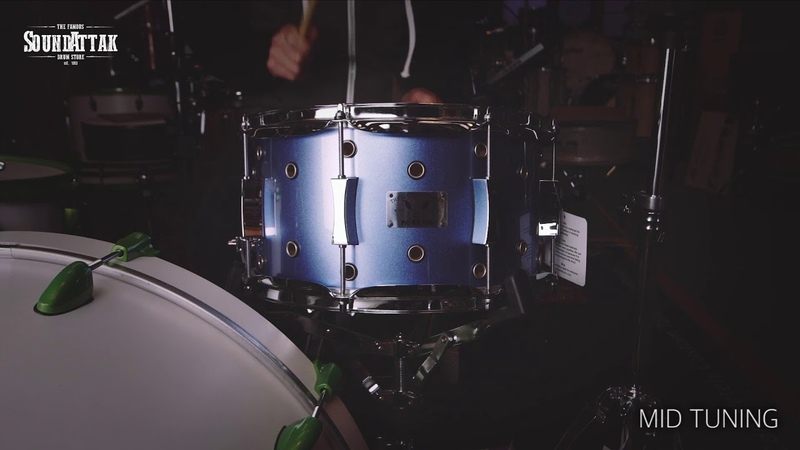 Pork Pie Little Squealer 13x7 Vented Snare Drum Porcaro Blue Metallic