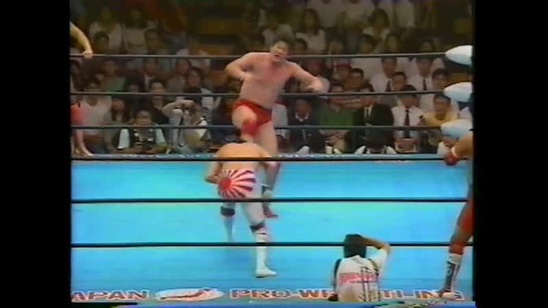 1992 07 21 Akira Taue Masanobu Fuchi Yoshinari Ogawa vs Mitsuharu Misawa Kenta Kobashi Tsuyoshi Kikuchi