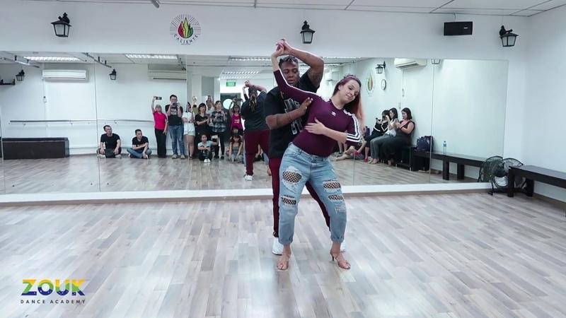 Val Clemente Vanessa Bonilha ZoukRUSH Nov 2018 at Zouk Dance Academy Sun post workshop improv