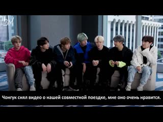 RUS SUB BTS The K-pop Group Dish On Their Favorite Dance Moves, Nicknames & More @ Entertainment Weekly