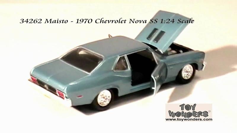34262 Maisto 1970 Chevrolet Nova SS 124 Scale Diecast Wholesale