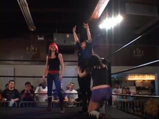 Hiroyo Matsumoto & Misaki Ohata  vs. The Knight Dynasty (Britani Knight  Saraya Knight) (with Rebecca Knox)
