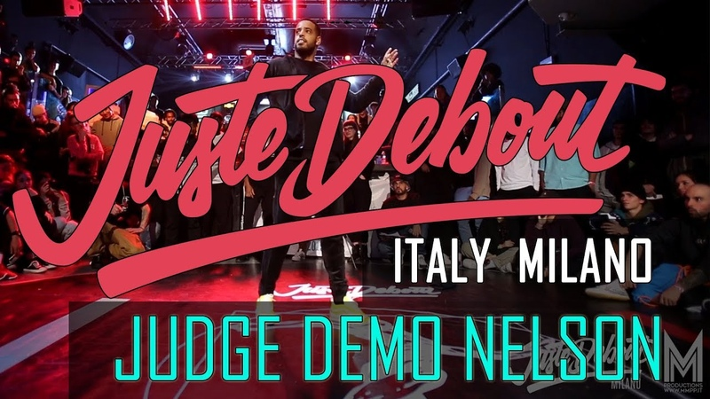 Juste Debout ITALY MILANO 2019 JUDGE DEMO NELSON POPPING JusteDeboutItaly JusteDebout @mmpp dance