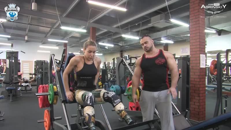 Круговая тренировка ног Бикиняшки за неделю до соревнований Тренер Владимир Агринский