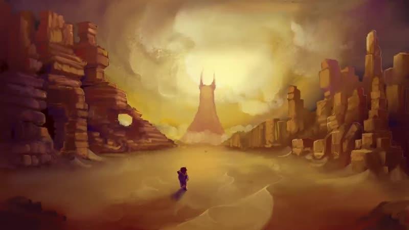 Художественный арт. Биом из игры Hytale - Пустыня