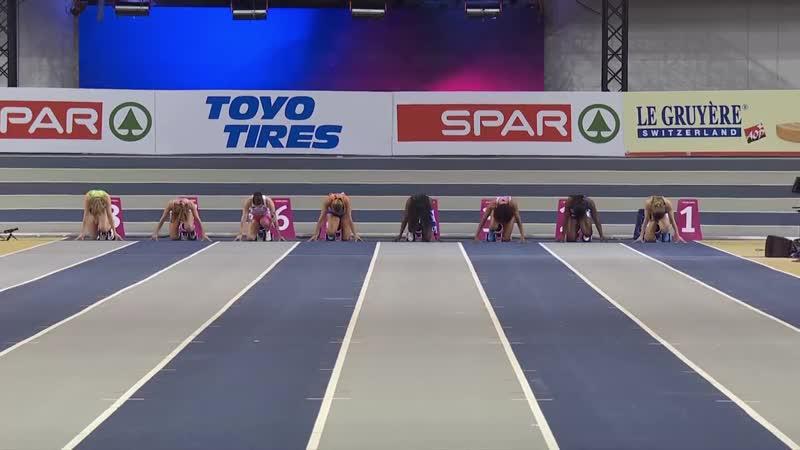 60m Final Women European Indoor Championships Glasgow 2019