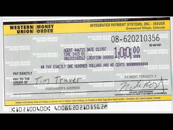 How to write a money orderWestern Union-Shahed Hossain
