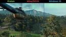 Far Cry New Dawn Benchmark Proton vs Windows 10