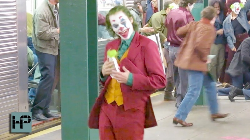 FIRST VIDEO - Joaquin Phoenix in Full Make Up as The Joker - Filming in NY Subway