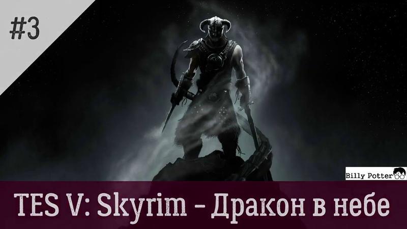 TES V: Skyrim 3 - Дракон в небе