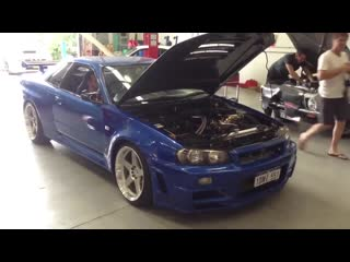 Nissan skyline gtr r34. blow off с отсечкой