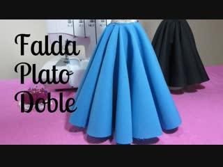 Как сшить юбку с глубокими красивыми складками.