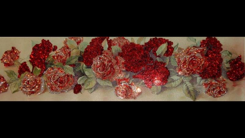 Алмазная вышивка Розы Часть 1 4 Варианты выкладывания алмазов Diamond embroidery Roses