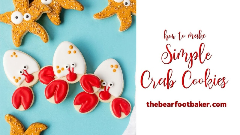 How to Make Simple Crab Cookies | The Bearfoot Baker